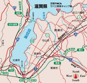 京都YMCAサバエキャンプ場 地図