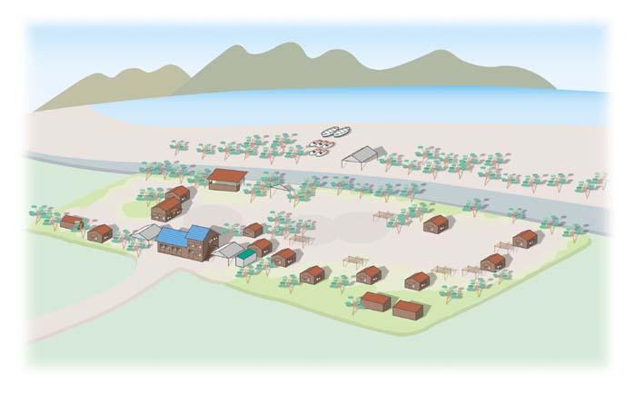 サバエキャンプ場全体図