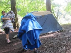 テント片付け2